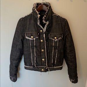 Acne Studios Gianna Padded Denim Jacket-Soft Black